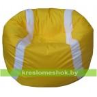 Кресло-мешок Мяч оранжево-белый