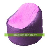 Кресло мешок Bravo сиреневое, сидушка розовая