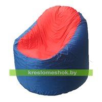 Кресло мешок Bravo синее, сидушка красная