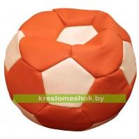 """Кресло-мешок """"Мяч стандарт"""" оранжево-белый"""