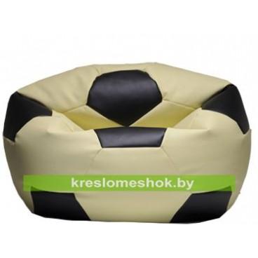 Кресло мешок Мяч кремово-черный