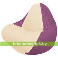 Кресло мешок RELAX бордовое, сидушка светло - бежевая