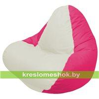 Кресло мешок RELAX малиновое, сидушка белая
