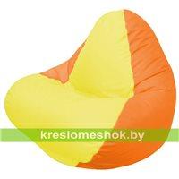 Кресло мешок RELAX оранжевое, сидушка жёлтая