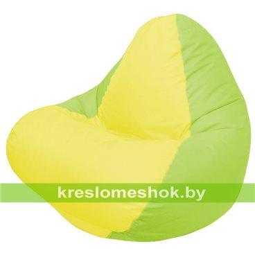 Кресло мешок RELAX салатовое, сидушка жёлтая