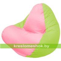Кресло мешок RELAX салатовое, сидушка розовая