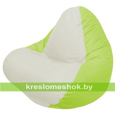 Кресло мешок RELAX салатовое, сидушка белая
