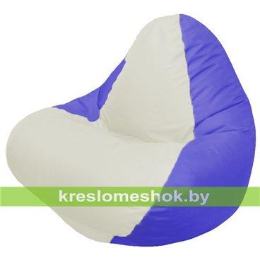 Кресло мешок RELAX синее, сидушка белая