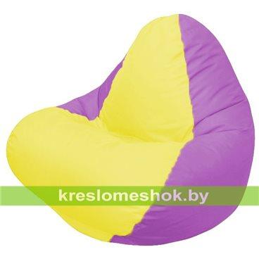 Кресло мешок RELAX сиревевое, сидушка жёлтая