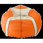 Кресло мешок Мяч Медиум баскетбольный экокожа (95 х 95 см) оранжево-белый