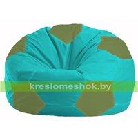Кресло мешок Мяч бирюзовый - оливковый М 1.1-288
