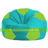 Кресло мешок Мяч бирюзовый - салатовый М 1.1-294
