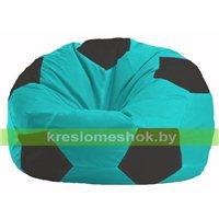 Кресло мешок Мяч бирюзовый - чёрные М 1.1-283