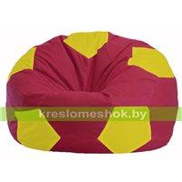 Кресло мешок Мяч бордовый - жёлтый М 1.1-309