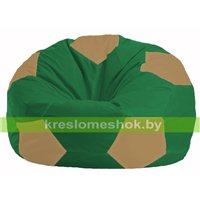 Кресло мешок Мяч зелёный - бежевый М 1.1-237