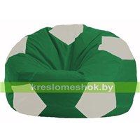 Кресло мешок Мяч зелёный - белый М 1.1-244