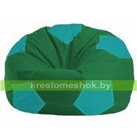Кресло мешок Мяч зелёный - бирюзовый М 1.1-243
