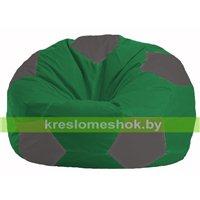 Кресло мешок Мяч зелёный - тёмно-серый М 1.1-238