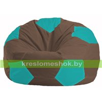 Кресло мешок Мяч коричневый - бирюзовый М 1.1-317