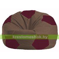 Кресло мешок Мяч коричневый - бордовый М 1.1-318