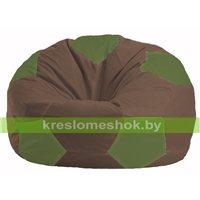 Кресло мешок Мяч коричневый - оливковый М 1.1-323