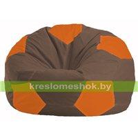 Кресло мешок Мяч коричневый - оранжевый М 1.1-324