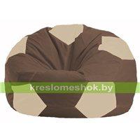 Кресло мешок Мяч коричневый - светло-бежевый М 1.1-326
