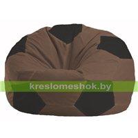 Кресло мешок Мяч коричневый - чёрный М 1.1-454