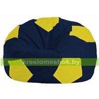Кресло мешок Мяч тёмно-синий - жёлтый М 1.1-47
