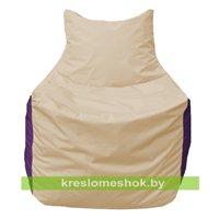 Кресло мешок Фокс Ф 21-132 (слоновая кость - фиолетовый)