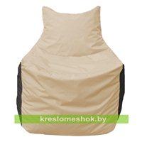 Кресло мешок Фокс Ф 21-130 (слоновая кость - чёрный)