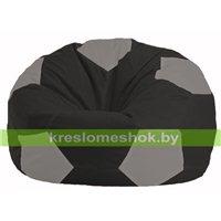 Кресло мешок Мяч чёрный - серый М 1.1-473