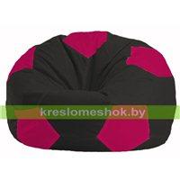 Кресло мешок Мяч чёрный - малиновый М 1.1-474