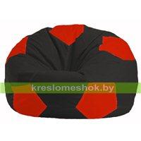 Кресло мешок Мяч чёрный - красный М 1.1-467