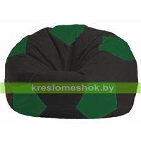 Кресло мешок Мяч чёрный - зелёный М 1.1-397