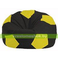 Кресло мешок Мяч чёрный - жёлтый М 1.1-396