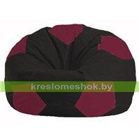 Кресло мешок Мяч чёрный - бордовый М 1.1-358