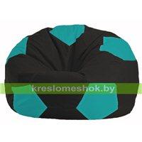 Кресло мешок Мяч чёрный - бирюзовый М 1.1-393