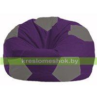Кресло мешок Мяч фиолетовый - серый М 1.1-72