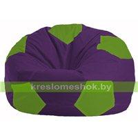 Кресло мешок Мяч фиолетовый - салатовый М 1.1-31