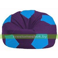 Кресло мешок Мяч фиолетовый - голубой М 1.1-74
