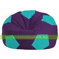Кресло мешок Мяч фиолетовый - бирюзовый М 1.1-75