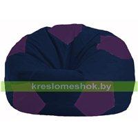 Кресло мешок Мяч тёмно-синий - фиолетовый М 1.1-38