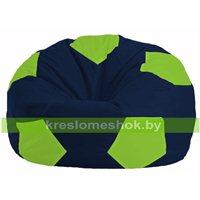 Кресло мешок Мяч тёмно-синий - салатовый М 1.1-43