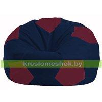 Кресло мешок Мяч тёмно-синий - бордовый М 1.1-49
