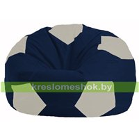 Кресло мешок Мяч тёмно-синий - белый М 1.1-500