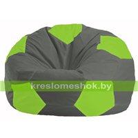Кресло мешок Мяч тёмно-серый - салатовый М 1.1-356