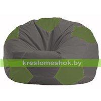 Кресло мешок Мяч тёмно-серый - оливковый М 1.1-468