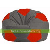Кресло мешок Мяч тёмно-серый - красный М 1.1-362