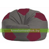 Кресло мешок Мяч тёмно-серый - бордовый М 1.1-358